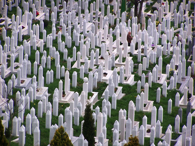Graves in Bosnia. Photo by NeonMan on flickr.